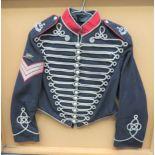T. RHA Somerset Senior NCO's Shell Jacket dark blue, single breasted, short jacket. High scarlet