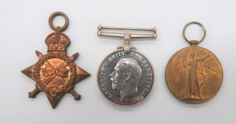 Royal Engineers 1914-15 Medal Trio consisting 1914-15 Star, silver War medal and Victory medal named