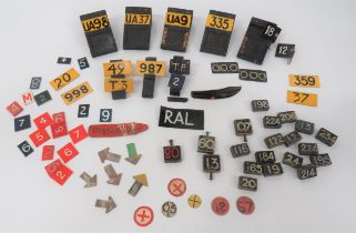 Selection of Aircraft Plotting Markers including 8 x wooden plotting stands ... Various number and