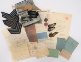 Paperwork and Badges To An RAF Aircrew with 62 Squadron all relating to Sergeant J H P Lawrence.