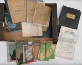 Quantity of Royal Air Force Training Manuals and Books all relating to Sergeant J H P Lawrence.
