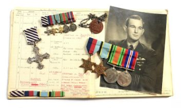WW2 RAF Pathfinder Squadron DFC Medal Group, Log Books etc. .A fine DFC medal group awarded to