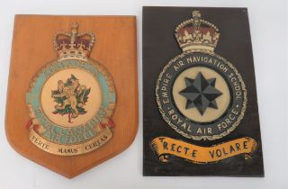 Two Air Force Squadron Wall Crests consisting KC Empire Air Navigation School Royal Air Force