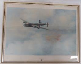 "Fine Art print of RAF Halifax ""Friday 13th"" by K B Hancock 1979 print depicts the Halifax Bomber"