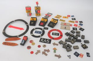 Selection of Aircraft Plotting Markers including 3 x alloy plotting stands (1 damaged) ... 4 x