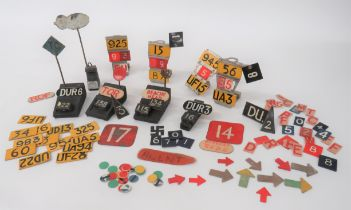 Good Selection of Aircraft Plotting Markers including 4 x alloy plotting stands ... 5 x wooden