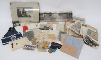 Good Selection of Royal Air Force Ephemera including EPNS desk calendar with RAF wings mounted on