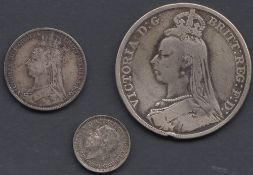 COINS : 1889 Great Britain silver crown,