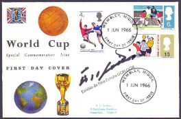 AUTOGRAPHS : EUSEBIO signed 1966 World Cup first day cover,
