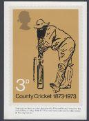 Great Britain 1973 Cricket PHQ card no.