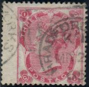 Great Britain Stamps : 3d Bright Carmine Rose fine used Bradford Street CDS SG 76