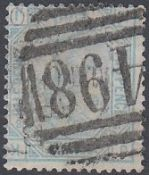 GREAT BRITAIN STAMPS : 1880 2 1/2d plate 18 used example with INVERTED watermark,
