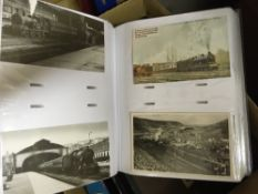 POSTCARDS Various albums of mainly Railway related cards, most are unfortunately re-prints,