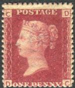 Great Britain Stamps : Penny Red plate 71 lettered DC unmounted mint SG 43