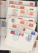 """Great Britain 1971 Strike Mail covers with """"Special Courier Mail"""" labels (80)"""