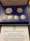 COINS : 1976 British Virgin Islands Proof Coin set in special case
