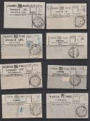 LIVERPOOL PARCEL POST LABELS, selection of 80 labels without stamps,