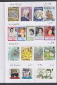STAMPS : Four circulated stamp club books with Falklands and St Helena issues 1950's to 90's PTSA