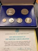 COINS : 1975 British Virgin Islands Proof Coin set in special case