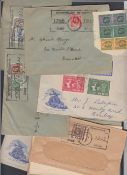 STAMPS POSTAL HISTORY : MAURITIUS, small batch of early covers, and part covers,