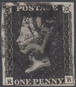 GREAT BRITAIN PENNY BLACK Plate 5 letter