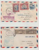 STAMPS AIRMAIL : USA, six first flight c