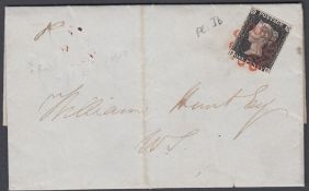 STAMPS GREAT BRITAIN PENNY BLACK Plate 1