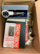 STAMPS : Box with various old Catalogues