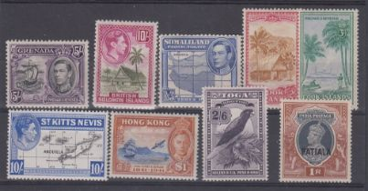 STAMPS : Commonwealth GVI mint high values to $1 , Hong Kong, Grenada,