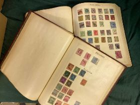 STAMPS : World collection in two spring-back albums appears to be mainly pre 1930's material,