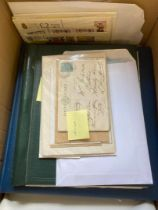 STAMPS : Mixed box of mainly Isle of Mann stamps and covers, worth a look,