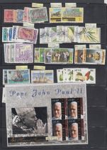 STAMPS : Dominica, St Kitts and St Lucia ex dealers stock on stock cards,