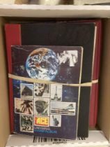 STAMPS : Four World albums/stockbooks including some early fine used Guernsey etc