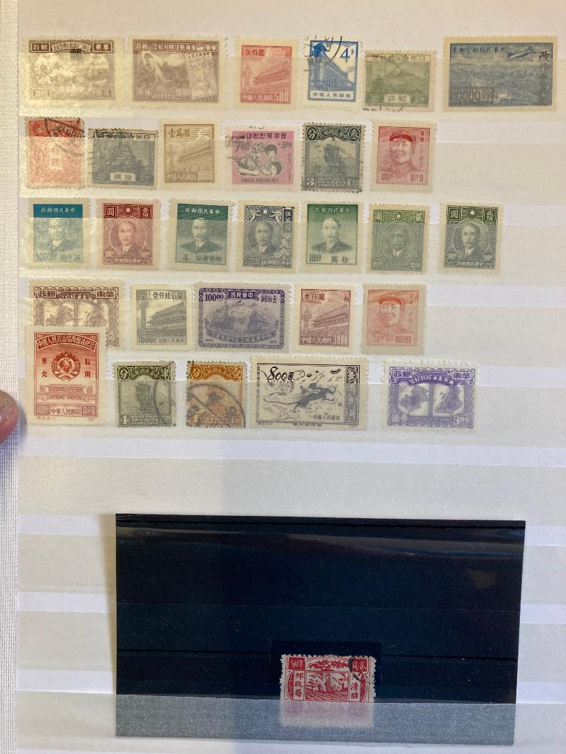 STAMPS CHINA Box with various mint & used on album pages in a stockbook etc. - Image 7 of 12