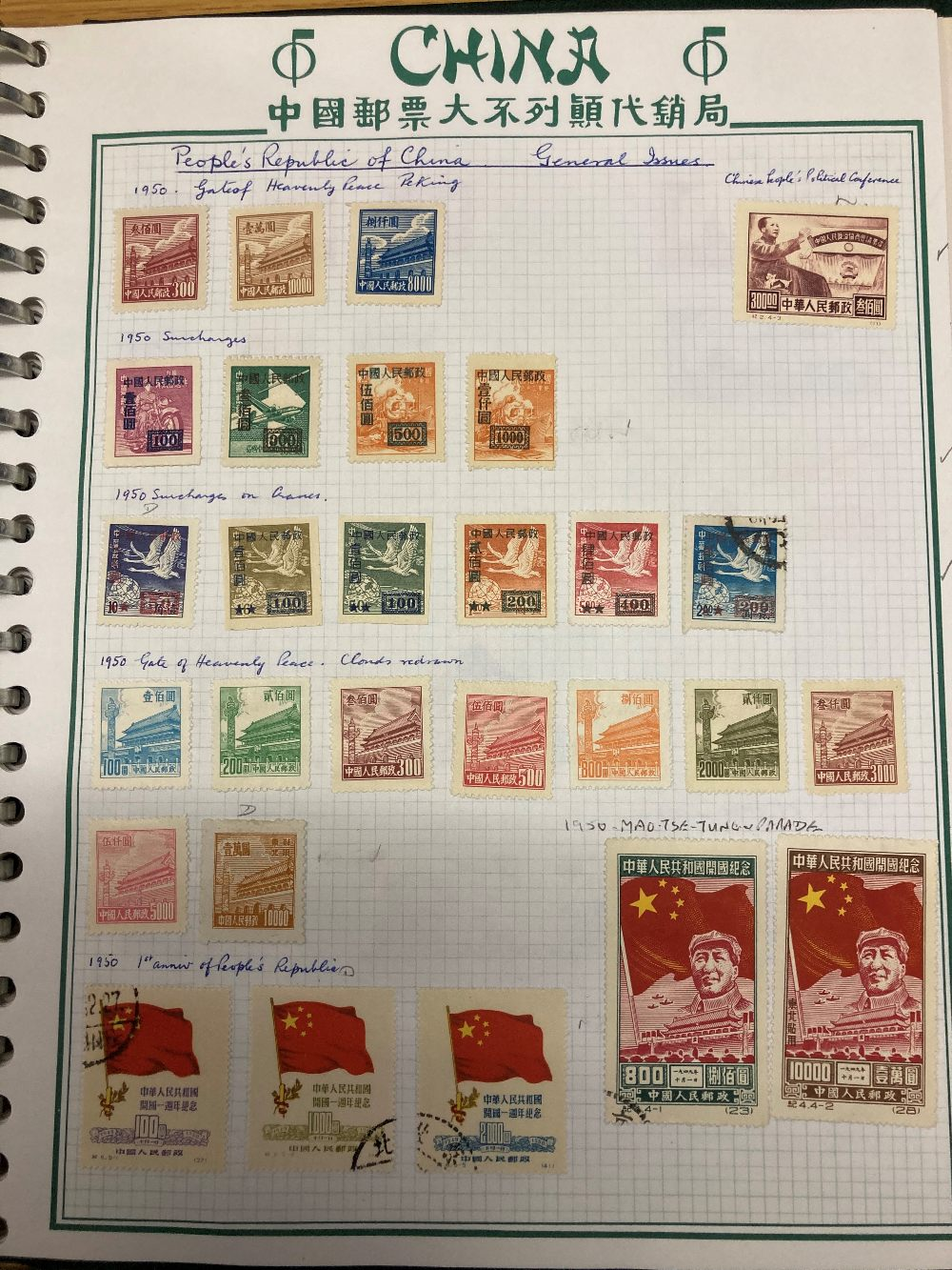 STAMPS CHINA Box with various mint & used on album pages in a stockbook etc. - Image 4 of 12