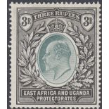 STAMPS 1907 EAST AFRICA AND UGANDA 3r Grey-Green and Black,