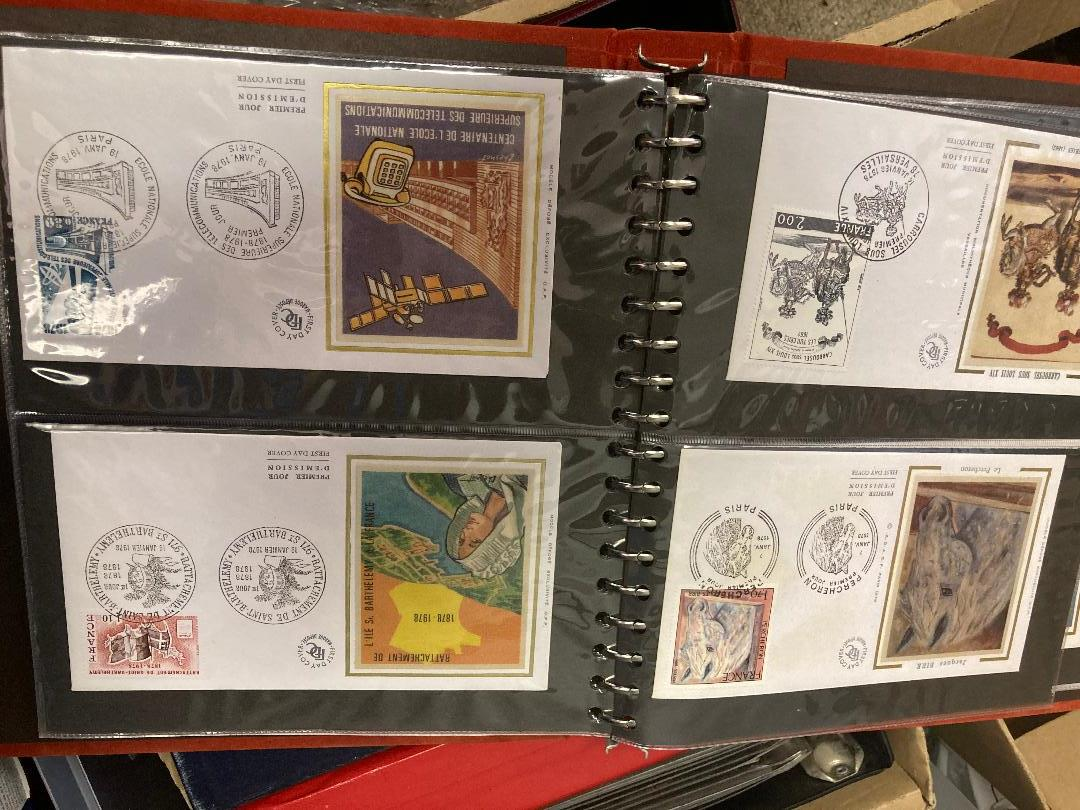 STAMPS : Box of various albums of first day covers and commemorative covers, - Image 2 of 3
