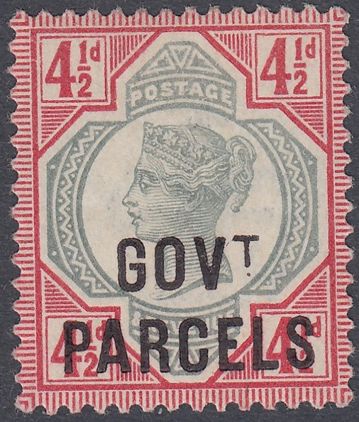 GREAT BRITAIN STAMPS 1892 4 1/2d Green and Carmine unmounted mint,