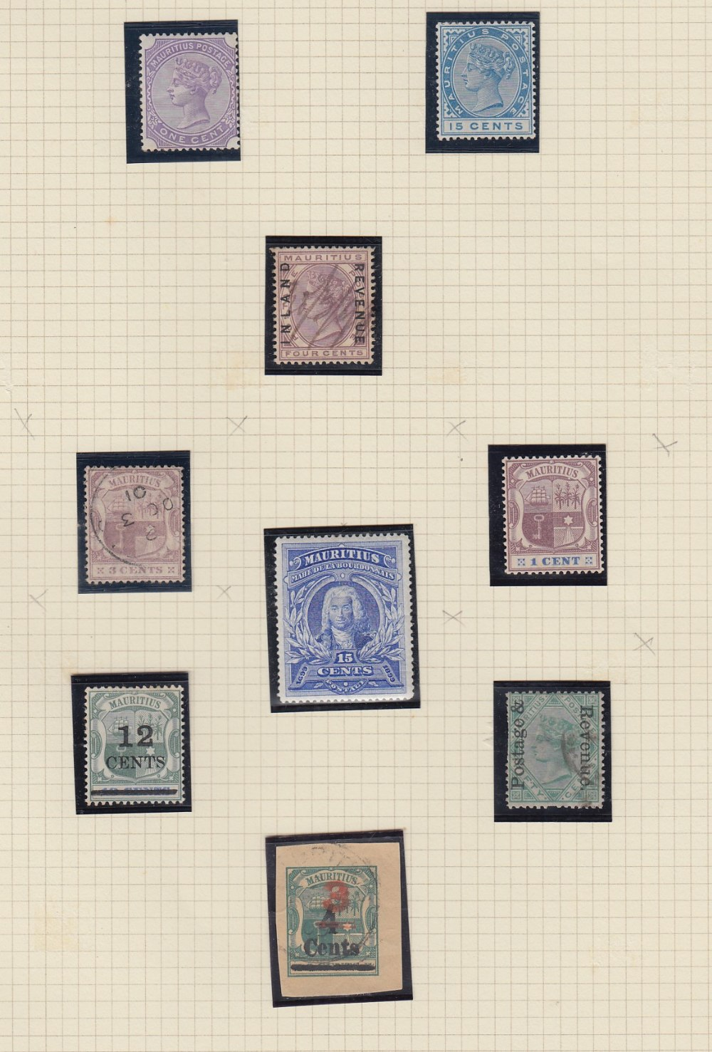 STAMPS MAURITIUS Collection mint and used QV to QEII, a few early classics, 1900 1r mint, - Image 2 of 3