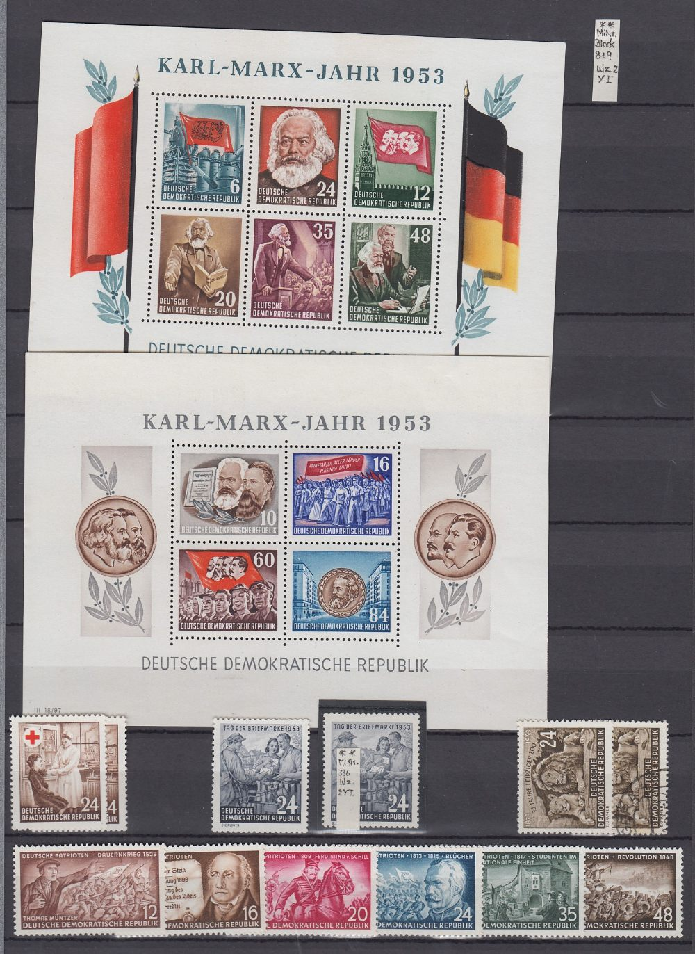 STAMPS GERMANY Large green stockbook 1949 - 1990 unmounted mint and fine used, including minisheets, - Image 2 of 3