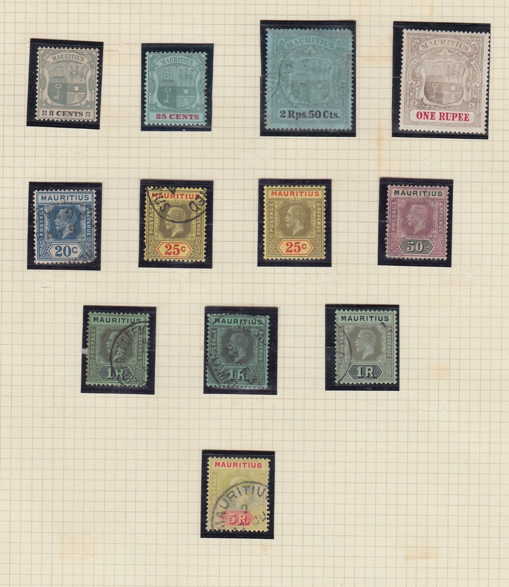 STAMPS MAURITIUS Collection mint and used QV to QEII, a few early classics, 1900 1r mint, - Image 3 of 3