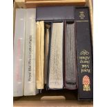 GREAT BRITAIN STAMPS : Box with various albums, stockbooks, cover albums etc.