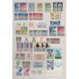 STAMPS FOR CHARITY Red Lighthouse stockbook crammed full of World stamp all appear to be mint,