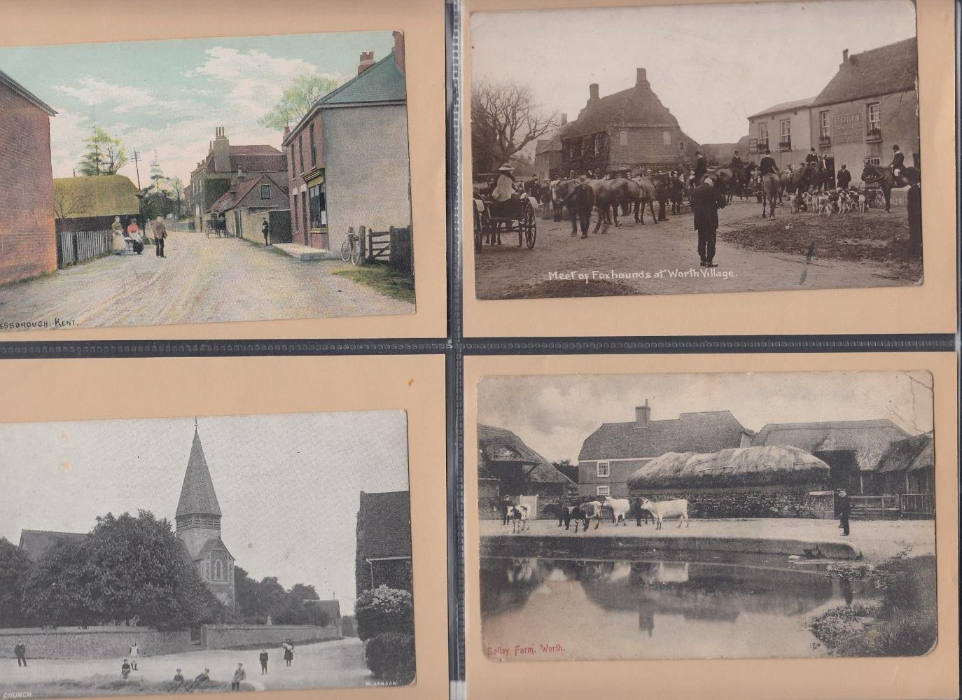 POSTCARDS Two albums of cards mainly from Sandwich and East Kent, some good early cards noted. - Image 6 of 6