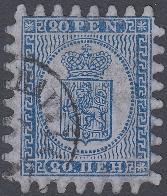 STAMPS FINLAND 1866 20p fine used with superb perfs SG 36 Cat £140