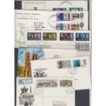 STAMPS FIRST DAY COVERS Small batch of 1960's Illustrated FDC's , 1966 Westminster, 1965 Lister,