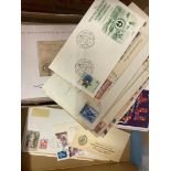 STAMPS : Shoebox of mixed covers and cards