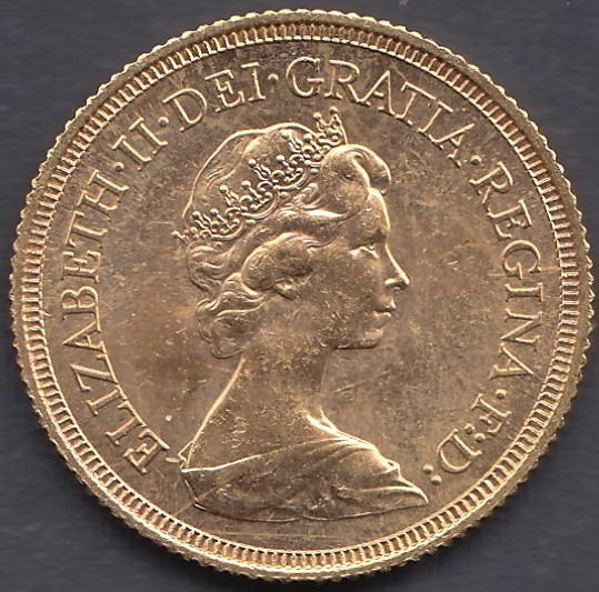 GOLD COIN : 1974 Full Sovereign in fine condition - Image 2 of 2
