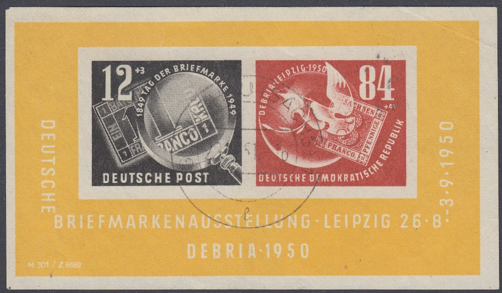 STAMPS GERMANY 1953 Debria mini sheet fine used creased Cat £225
