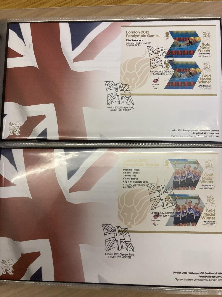 STAMPS FIRST DAY COVERS Box with six albums incl Royal Mail FDCs for 2012 Olympics & Paralympic - Image 2 of 4